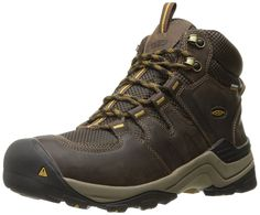 KEEN Men's Gypsum II Mid WP Shoe, Coffee Bean/Bronze Mist, M US: Lace-up  hiking boot featuring waterproof nubuck/mesh upper with pull loop at tongue  and ...