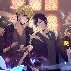 Drrr! X Harry Potter Crossover Shizuo and Izaya