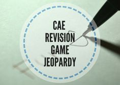 This Jeopardy revision game works well with CAE students who need to revise the content of the course. It is a perfect game for the last class of the course Revision Games, Esl, Grammar, English, Teaching, Education, Falling Down, English Language, Learning