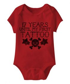 This Red '17 Years' Bodysuit - Infant by American Classics is perfect! #zulilyfinds