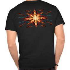 Energetic Geometry- Fire Element T-shirt.  #tshirt #apparel #shirts #tees #teeshirts #menstshirts #men #menstees #art #design #shopping #gifts