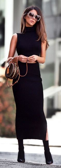 #fall #outfits black