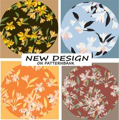 Avail this design from Patternbank Freckles, Floral Design, Royalty, Summer Dresses, Patterns, Flowers, Free, Royals, Block Prints
