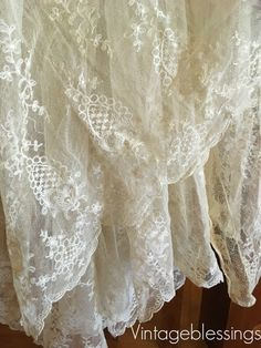 Antique french lace. Gorgeous!