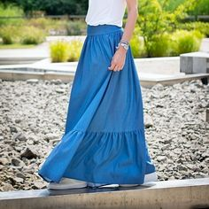 Skirt available on Etsy. Link in profile #mrsnoproblem #maxiskirt #blueskirt #skirt #denim #denimskirt #denimmaxiskirt #fashion #fashionblog #polishdesign #polishfashion #summer #clothing #clothes 👚 #woman #etno #boho #freedom #femininity #womanhood