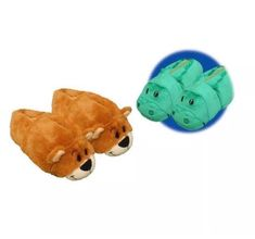 965b82c9c61 FlipaZoo Flip A Zoo Alligator-Grizzly Bear Slippers Shoes Size Med 12-13