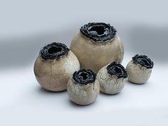 """Nouche """"Cocons"""" Raku ceramics"""