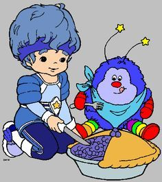 Buddy Blue (Color Kid from Rainbow Brite Land) & Champ Sprite---in charge of everything blue; the athletic one Love Rainbow, Rainbow Heart, Rainbow Colors, 80s Girl Toys, 80s Characters, Cartoon Character Tattoos, 1980 Cartoons, Jem And The Holograms, Rainbow Birthday Party