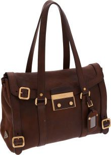 7ee63dcf61e8c7 Prada Brown Deerskin Leather Shoulder Bag with Gold Hardware Deerskin, Gold  Hardware, Leather Shoulder