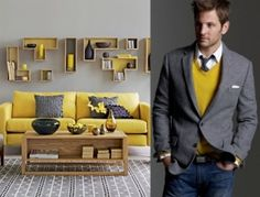 Grey and Yellow by jeannine