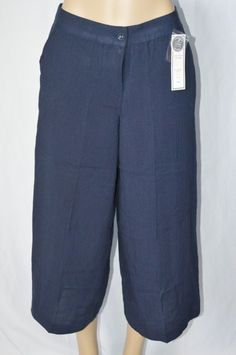 Charter Club Womens 6 Classic Fit Navy Blue NEW Casual Capri Pants Loose Fit #CharterClub #CaprisCropped
