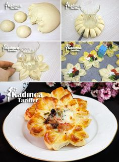 Ayçiçeği Poğaça Tarifi Creative Food, Pasta, Appetizers, Eggs, Breakfast, Kid Cooking, Turkish Recipes, Morning Coffee, Appetizer