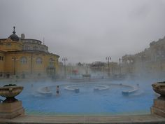 Bathing in #Budapest. Steaming hot water against the sub-zero temperature! The best way to enjoy winter in the city! More on Budapest here: http://www.footprintsandmemories.com/tag/budapest/