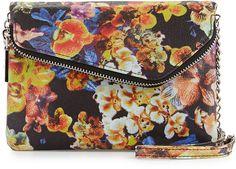 Hobo Zara Exotic Printed Crossbody Bag, Autumn Orchid by Hobo