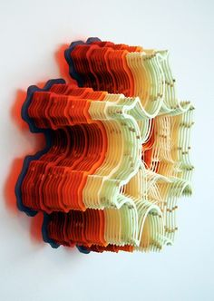 Hand Cut Paper Microorganisms by Charles Clary  paper