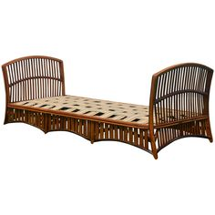 Antique Ypsilanti Stick Wicker Daybed | From a unique collection of antique and modern daybeds at https://www.1stdibs.com/furniture/seating/day-beds/