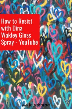 Creating a resist to apply the background last is easy with Dina Wakley Gloss Spray. You just want to make sure you let the Gloss Spray dry before applying the dye ink. Otherwise you end up with a yucky stick mess. Youtube M, How To Apply, How To Get, Mixed Media Art, Ink, Let It Be, Easy, Cards, Mixed Media
