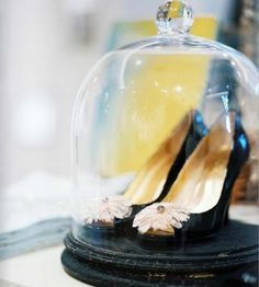 need to find a glass cloche for my wedding shoes