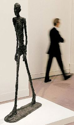 A life-size bronze sculpture by Alberto Giacometti has been sold at auction for the world record price of Alberto Giacometti, Giovanni Giacometti, Peter Paul Rubens, Picasso, Joseph Kosuth, Christo And Jeanne Claude, Walking Man, Artist Gallery, Second World