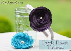How to Make Pretty Fabric Flower Headbands and Hair Clips! #flowers #headbands