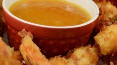 This sweet and fruity dipping sauce gets an extra kick from prepared horseradish and pairs perfectly with your favorite coconut shrimp.