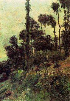 Hillside, 1884 - Paul Gauguin - WikiArt.org