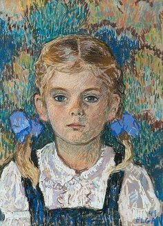 View PORTRAIT OF A CHILD By Elga Sesemann; Access more artwork lots and estimated & realized auction prices on MutualArt. Art Painting, Portrait Drawing, Kids Portraits, Female Art, Art, Art Historian, Portrait, Art History, Portrait Gallery