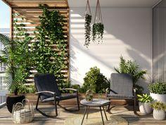 petite terrasse design Outdoor Chairs, Outdoor Furniture Sets, Outdoor Decor, Tiered Garden, Terrace Garden, Sun Lounger, Outdoor Living, Patio, Terrasse Design