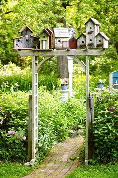 Rustic Birdhouse Arbor...