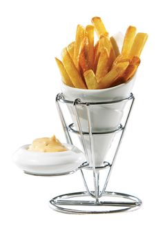 I love these - very Belgium AND a sauce dish. Groovy as I actually consider french fries and most food to be sauce vehicles. Fries For Me Set by Entertaining Essentials on Kitchen Items, Kitchen Gadgets, Kitchen Tools, Big Kitchen, Cooking Gadgets, Kitchen Products, Kitchen Things, Kitchen Utensils, Kitchen Appliances