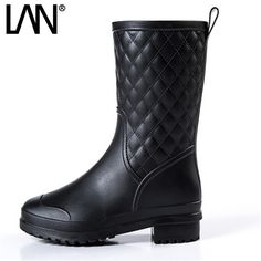 24.99$  Watch here - http://alip2b.shopchina.info/go.php?t=32796306801 - Fashion Spring Women Rain Boots Waterproof Rubber Women Mid Calf Boots Shoes Comfort Casual Ladies Martin Boots 24.99$ #magazine