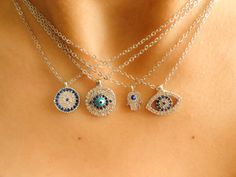 Wholesale evil eye necklace bulk necklace wholesale by Handemadeit, $48.00
