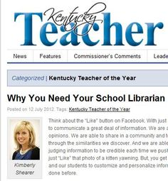 Why You Need Your School Librarian by Kimberly Shearer, Kentucky Teacher of the Year
