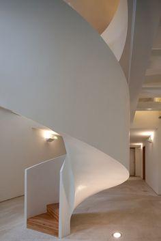 Wendeltreppe- Moderne Architektur aus Portugal-nah