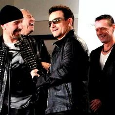 My U2 World I love this photo cause Larry had apparently just said something wildly inappropriate and Bono is asking if the press heard him. They did not, but the band did!