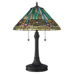 Quoizel King TF1508TVB Tiffany Table Lamp   TF1508TVB