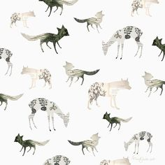 paper animals pattern by art and ghosts. i envision an office/reading room with one wall plastered with this. <3