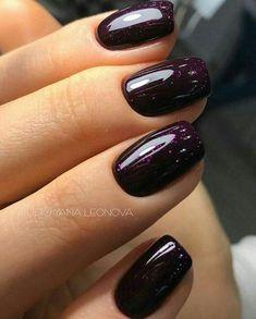 Nageldesign - Nail Art - Nagellack - Nail Polish - Nailart - Nails Love this color Wedding Favors: I Diy Nagellack, Nagellack Design, Nagellack Trends, Get Nails, Love Nails, Gorgeous Nails, Hair And Nails, Dark Nails, Dark Purple Nails