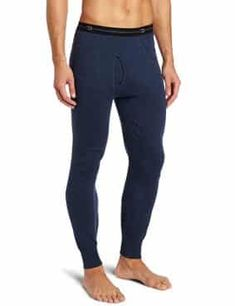 Duofold Men's Midweight Double-Layer Thermal Pant Thermal Pants, Long Underwear, Thermal Insulation, Winter Sports, Cold Weather, Elastic Waist, Closure, Pants For Women, Blue Jeans