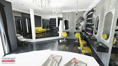 fotorealistyczna wizualizacja do projektu wnętrza salonu urody w Częstochowie; więcej na: http://marengo-architektura.pl/portfolio/projekt-salonu-urody/