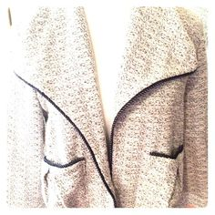 Tart size small thin cloth black/white jacket Light/thin, brand new, no tags but never worn size small jacket/sweater Tart Sweaters