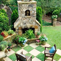 Love the look with the pavers and grass