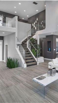 Home Stairs Design, Home Room Design, Dream Home Design, Modern House Design, Home Interior Design, Modern Stairs Design, Stair Design, Kitchen Design, Dream House Interior