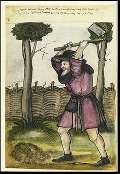 1400s Gardener Germany  Gardener, Landauer Twelve Brother's House manuscript