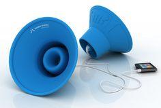 Tembo Trunks - Altavoces amplificados para tu iPod, iPhone o iPad
