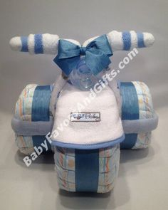 Tricycle Diaper Cake - Baby Boy Diaper Cakes - Baby shower gift ideas thought you could make for mandy Baby Shower Diapers, Baby Shower Cakes, Baby Boy Shower, Baby Shower Themes, Shower Ideas, Tricycle Diaper Cakes, Diaper Cake Boy, Cake Baby, Shower Bebe