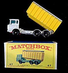 1960s Matchbox No 47 Daf Tipper Truck In Box
