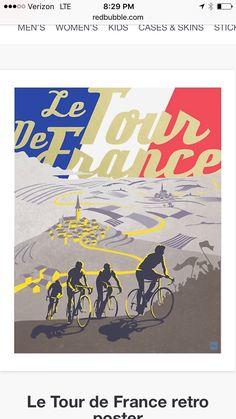 Items similar to Retro Tour de France poster illustration print on Etsy Gig Poster, Range Velo, Singer Songwriter, Framed Art Prints, Canvas Prints, In Loco, Retro, Bike Illustration, Vintage Cycles