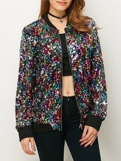 SHARE & Get it FREE | Sequins Bomber JacketFor Fashion Lovers only:80,000+ Items • New Arrivals Daily Join Zaful: Get YOUR $50 NOW!