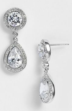 Free shipping and returns on Nadri Crystal & Cubic Zirconia Drop Earrings (Nordstrom Exclusive) at Nordstrom.com. Hand-set pavé traces the round studs and dangling teardrops of elegant earrings.
